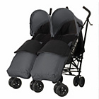 more details on Obaby Apollo Twin Stroller - Grey with Grey Footmuffs.