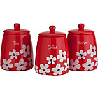 more details on HOME Scatter Floral Storage Jars - Red.