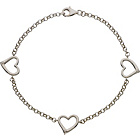 more details on Sterling Silver Cubic Zirconia Hearts Bracelet.