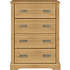more details on Mendoza Pine 4 Drawer Chest - Oak Stain.
