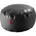 more details on Moroccan Leather Effect Footstool - Black.