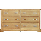 more details on Mendoza Pine 3+3 Drawer Chest - Oak Stain.