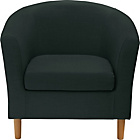 more details on ColourMatch Fabric Tub Chair - Jet Black.
