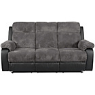 more details on Bradley Large Fabric Recliner Sofa and Chair - Charcoal.