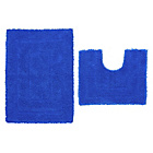 more details on ColourMatch Bath & Pedestal Mat Set - Marina Blue.