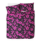 more details on Evie Floral Black and Pink Bedding Set - Double.
