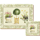more details on Creative Tops Topiary 6 Table Mats and Coasters - Green.