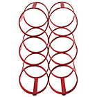 more details on Habitat Caden 6 Bottle Metal Wine Rack - Red.