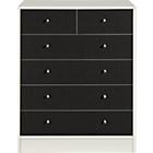 more details on New Malibu 4+2 Drawer Chest - Black on White.