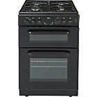 more details on Bush BDFD60B Double Dual Fuel Cooker - Black/Exp.Del.