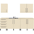 more details on Valencia 7 Piece Sink Kitchen Unit Package - Cream.