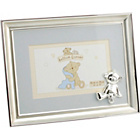 more details on Silver Plated Photo Frame with Blue Mount.