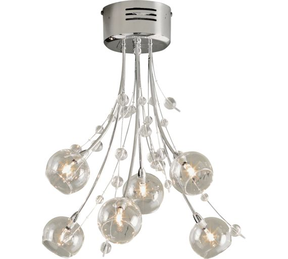 Buy Heart of House Sophie 6 Light Ceiling Fitting - Chrome at Argos.co.uk - Your Online Shop for ...