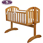 more details on Obaby Sophie Swinging Crib, Mattress and Blue Set - Pine.