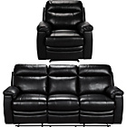 more details on Paulo Large Leather Recliner Sofa and Chair - Black.