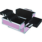 more details on Pretty Pink Small Pink Aluminium Vanity Case.