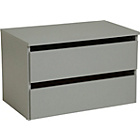 more details on Hygena Bergen 2 Drawer Large Internal Chest - Grey.