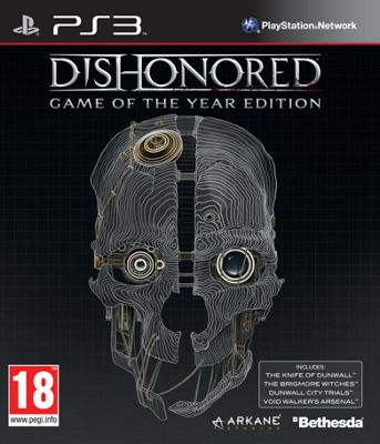 Dishonoured Game of the Year PS3 Game