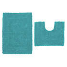 more details on ColourMatch Bath & Pedestal Mat Set - Lagoon.