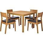 more details on Hygena Oak Square Dining Table and 4 Chairs.
