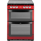 more details on New World 601DFDOL Double Dual Fuel Cooker - Red/Exp.Del.