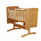 more details on Obaby B is for Bear Gliding Crib and Mattress - Country Pine