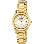more details on Citizen Ladies' Eco-Drive Gold Tone Bracelet Watch.