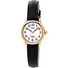 more details on Timex Ladies' Gold Plated Black Strap Watch.