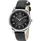 more details on Timex Men's Quartz Traditional Black Leather Strap Watch.