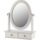 more details on Heart of House Colette Dressing Mirror with Drawers - Ivory.
