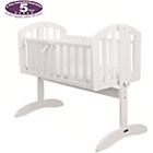 more details on Obaby Sophie Swinging Crib, Mattress and Blue Set - White.