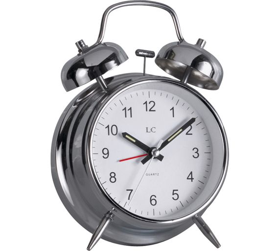 buy lc twin bell alarm clock at your online shop for clocks home furnishings. Black Bedroom Furniture Sets. Home Design Ideas