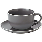 more details on Royal Doulton Gordon Ramsay Maze 4 Cup and Saucer - Slate.