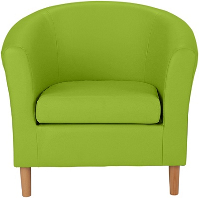 Buy ColourMatch Leather Effect Tub Chair - Apple Green at ...