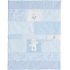 more details on Obaby B is for Bear Quilt and Bumper Crib Set - Blue.