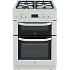 more details on Bush BUDFD60W Double Dual Fuel Cooker - White/Ins/Del/Rec.