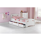 more details on Collection Mia Single Bed Frame - White.