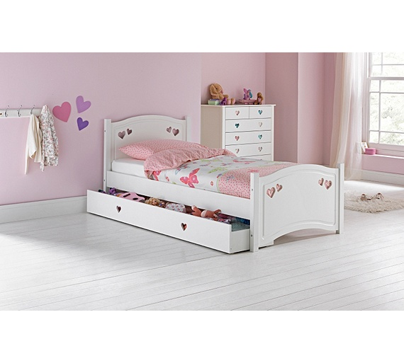 Buy Mia Single Bed Frame With Drawer White At Argos Co