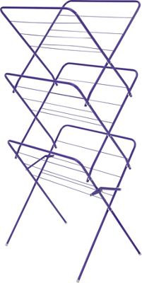 ColourMatch 15m 3 Tier Indoor Clothes Airer - True Purple