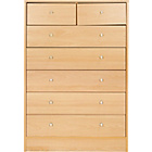 more details on New Malibu 5+2 Drawer Chest - Beech Effect.