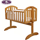 more details on Obaby Sophie Swinging Crib, Mattress and Cream Set - Pine.