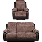 more details on Bradley Large Fabric Recliner Sofa and Chair - Natural.