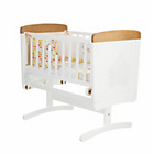 more details on Winnie the Pooh Gliding Crib, Mattress and Bedding - White.