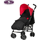 more details on Obaby Atlas Black/Grey Stroller - Red with Black Footmuff.