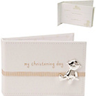 more details on My Christening PU Photo Album with Ribbon Tie - 6 x 4 Photos