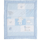 more details on Obaby B is for Bear Quilt & Bumper Set - Blue.