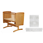 more details on Obaby B is for Bear Pine Gliding Crib - White Bedding Set.