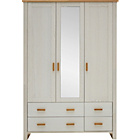 more details on Heart of House Wiltshire 3 Dr 4 Drw Wardrobe- Oak White Ash.