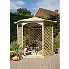more details on Grange Fencing Budleigh Hexangonal Gazebo Dressed C.