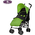 more details on Obaby Atlas Black/Grey Stroller - Lime with Lime Footmuff.